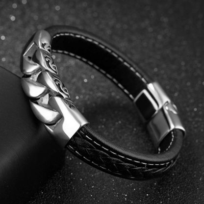 Leather Bracelet Box Chain 4