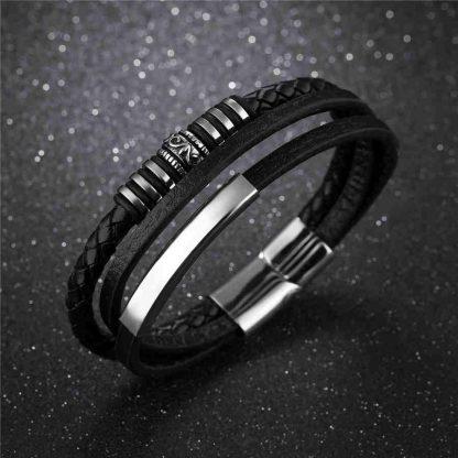 Leather Bracelet Multi Band