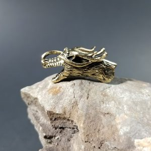 Dragon Paracord Bead Gold