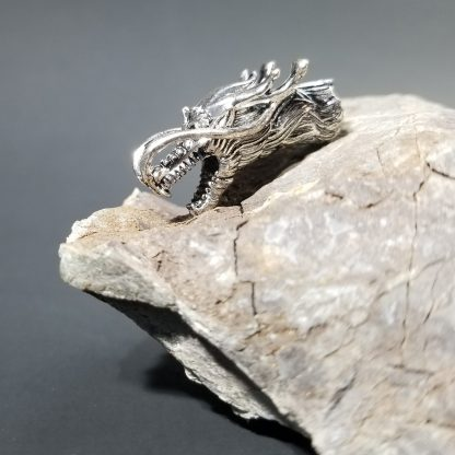 Dragon Paracord Bead Silver