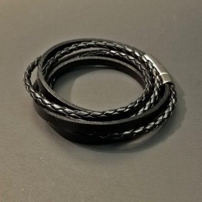 Leather Multi Wrap Bracelet