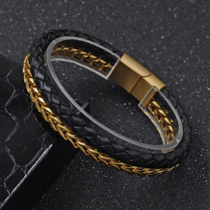 Leather Steel Chain Link