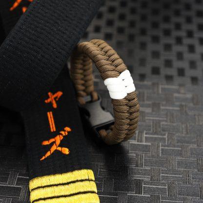 Brown belt with Stripe