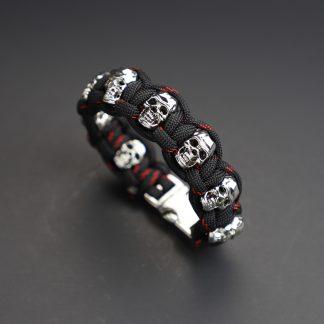 Red Line Skull Bracelet