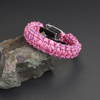 Crossed Pink Bracelet