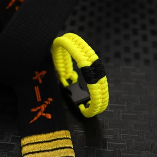 Yellow belt with stripes
