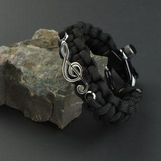 Silver Clef & Black paracord